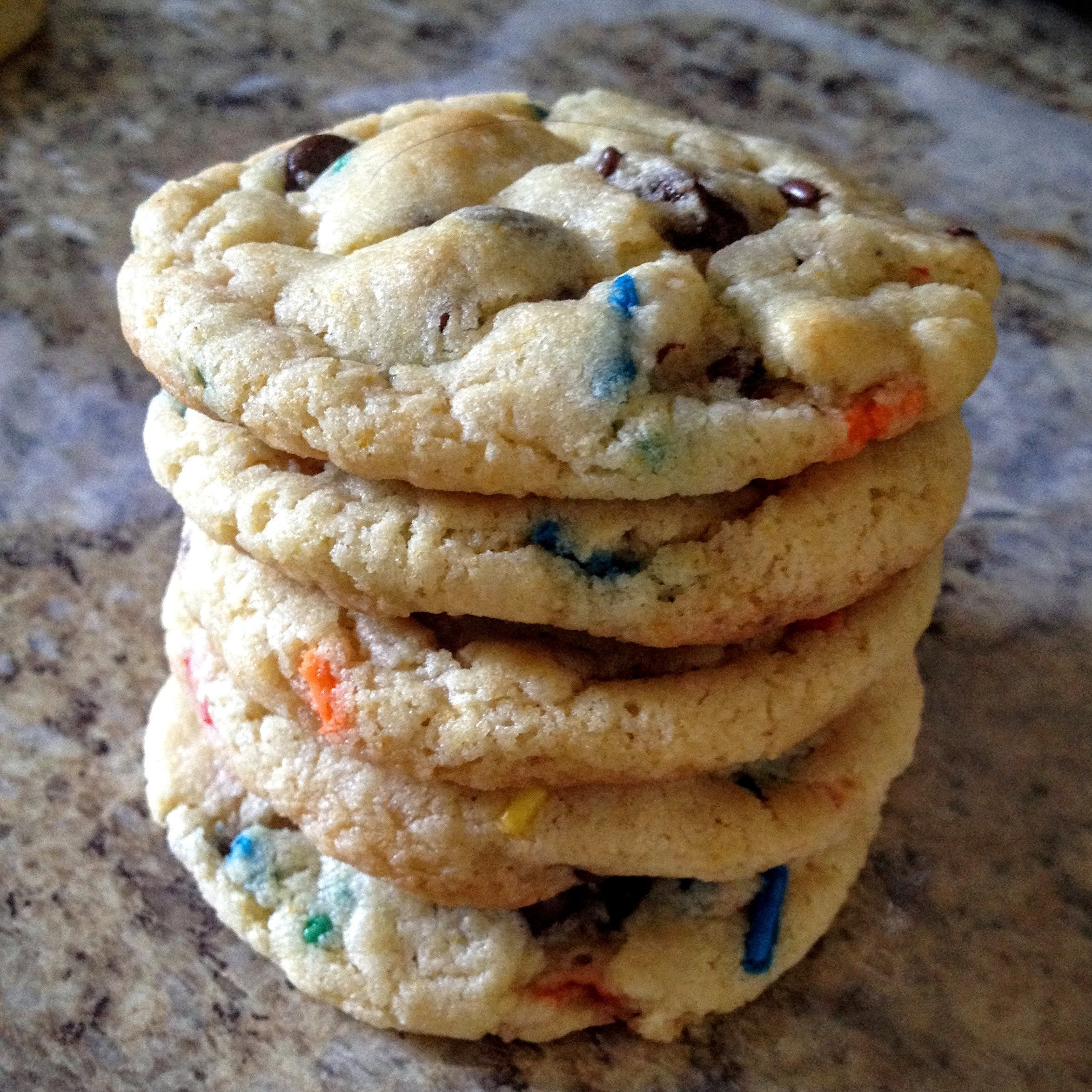 Cake Batter Cream Cheese Chocolate Chip Cookies