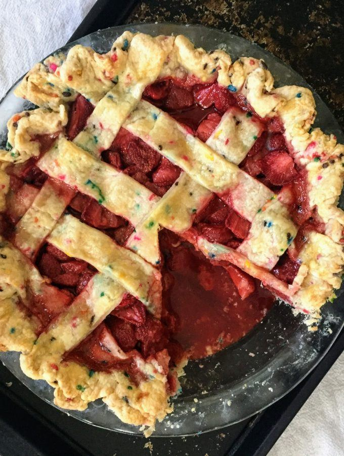 Sprinkle Crusted Strawberry Pie